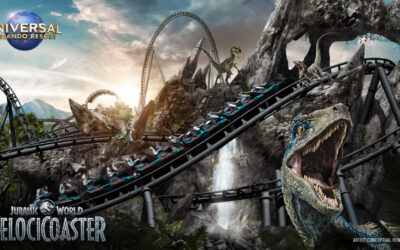 Conheça a nova montanha-russa Jurassic World VelociCoaster